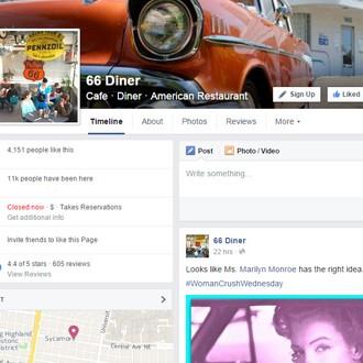 66 Diner Facebook